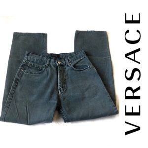 Versace High Rise Distressed Straight Slouchy 29
